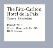 The Ritz-Carlton Hotel de la Paix | Geneva